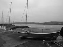 Kleine boten het rusten Stock Foto