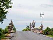 Kleine Brücken- und Balustradelampe Stockfotografie
