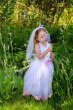 Kleine Braut mit Iris Lizenzfreie Stockfotos