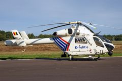 Police helicopter belgium royalty free stock photos