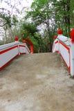 Kleine brug in de Chinese natuurlijke tuin Royalty-vrije Stock Foto's