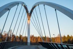 Kleine brug met blauwe hemel als achtergrond Stock Fotografie