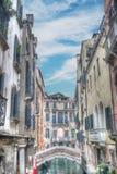 Kleine brug in Venetië, Italië royalty-vrije stock foto