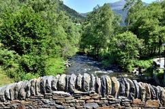 Kleine brug, whitewater Stock Afbeeldingen