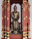 Kleine Buddha-Statue mit der Affe- und Elefantstatue Lizenzfreie Stockfotos