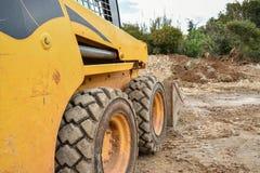 Kleine Bulldozer Stock Foto's