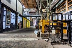 Kleine bureaus en workshops op NDSM-gebied, Amsterdam stock foto's
