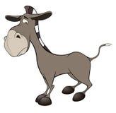 Kleine burro beeldverhaal Royalty-vrije Stock Foto's