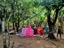 Kleine Camper Stockfoto