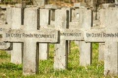 Kleine cementery in Sinaia Royalty-vrije Stock Afbeelding
