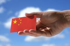 Kleine chinesische Flagge Stockfotos