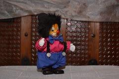 Kleine clown van stuk speelgoed stock afbeelding