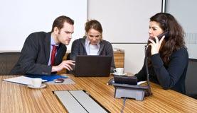 Kleine Commercieel team stock afbeeldingen