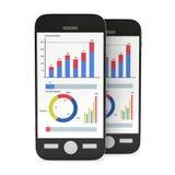 Kleine Daten bezüglich Smartphones Stockfotos