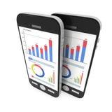 Kleine Daten bezüglich Smartphones Lizenzfreie Stockbilder