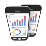 Kleine Daten bezüglich Smartphones Stockfoto