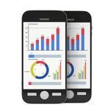 Kleine Daten bezüglich Smartphones Stockfotografie