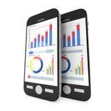 Kleine Daten bezüglich Smartphones Lizenzfreies Stockbild