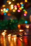 Kleine decoratieve lichten Royalty-vrije Stock Foto's