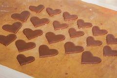 Kleine die harten van deeg worden gemaakt Stock Foto's