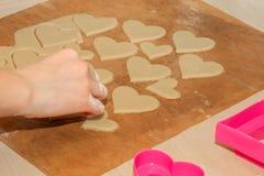 Kleine die harten van deeg worden gemaakt Stock Fotografie