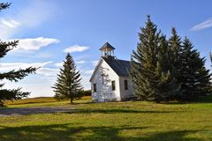 Kleine Dorfkirche Stockfotografie