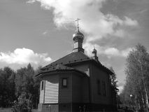 Kleine Dorfkirche Stockbild