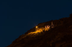 Kleine Dorpskerk boven Cuenca, Ecuador Stock Foto