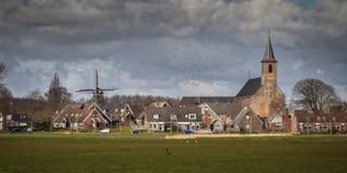 Kleine dorpsscène Nederland Stock Foto's