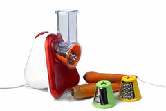 Kleine elektrische Haushaltsgeräte für das Vergewaltigen und den Schnitt von veget Stockbild