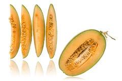 Kleine en Halve geïsoleerde Meloen Stock Afbeelding