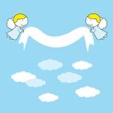 Kleine en zoete engelen royalty-vrije illustratie