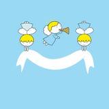 Kleine en zoete engelen stock illustratie