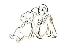 Kleine engelen vector illustratie