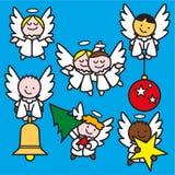 Kleine engelen 2 blauw vector illustratie