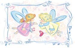 Kleine engelen. Royalty-vrije Stock Afbeeldingen