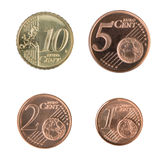Kleine Euro Muntstukken Stock Foto