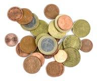 Kleine Euromünzen Stockfotos
