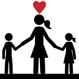 Kleine familie Royalty-vrije Stock Foto's