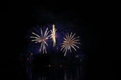 Kleine Feuerwerke Stockfotografie