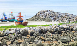 Kleine Fischerboote Stockfotos