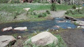 Kleine Flussüberquerung Stockbild