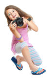Kleine fotograaf Stock Foto