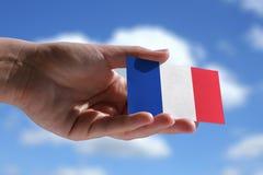 Kleine französische Flagge Lizenzfreie Stockfotos