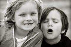 Kleine Freunde stockbild