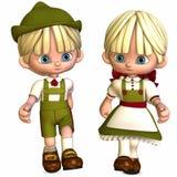 Kleine Freunde - Toon-Abbildungen Stockbilder