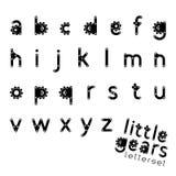 KLEINE GÄNGE Letterset vektor abbildung