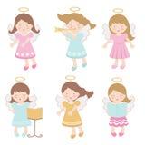 Kleine geplaatste engelen stock illustratie