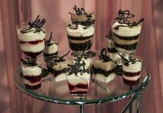 Kleine geschmackvolle Kuchen Lizenzfreies Stockfoto
