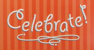 Kleine gift: Geïsoleerde vieringsdoos, close-up stock foto's